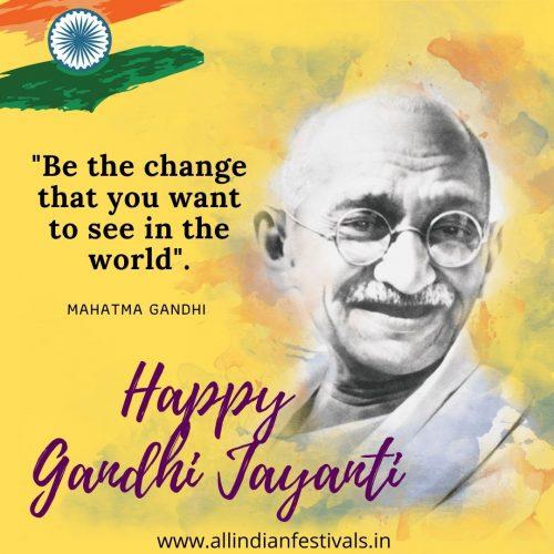 Happy Gandhi Jayanti Wishes Image